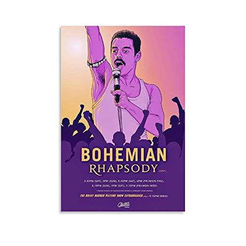 WIWIWI Band Queen Bohemian Rhapsody Leinwand-Kunst-Poster und Wand-Kunstdruck, modernes Familienschlafzimmerdekor, 30 x 45 cm