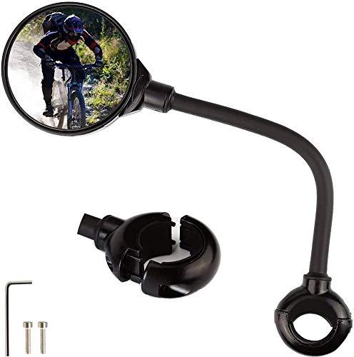 Faraone4w Specchietti per Bicicletta 360 Gradi Regolabile Specchietto da Bicicletta Grandangolari Specchi retrovisori Universale per Bici,Bici Elettrica Specchio Moto (Nero) (Nero)