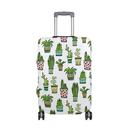 Orediy Kaktus-Topf-Druck, elastisch, Reisekoffer, Koffer-Schutz (ohne Koffer) S, M, L, XL Größe, multi (Mehrfarbig) - suitcasecover