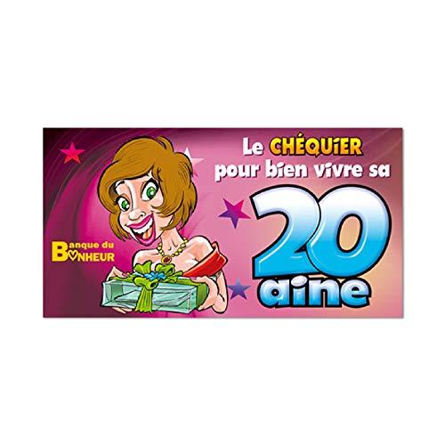 Chèquier 20 ans Femme