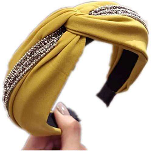 Yvelands Damen Mode Stirnbänder Breit Haarbänder Bogen Knoten Haarband Frauen Haar Kopfband Einfache Süße Mädchen Haar Stirnband Haarschmuck (1PC, B)