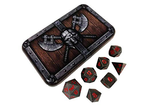 Butcher's Bill Metal Dice - Gunmetal Gray Metal...