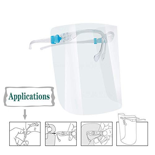 Protector facial transparente para proteger los ojos y la cara completa, plástico reutilizable, visera de protección de seguridad, anti saliva