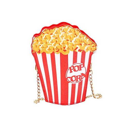 Alian - Bolso bandolera con forma de palomitas de maíz y texto en inglés 'Burger Fries' Popcorn