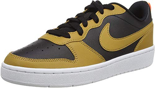 Nike Court Borough Low 2 (GS), Zapatillas, Negro/Trigo-Naranja Pulso-Blanco, 38.5 EU