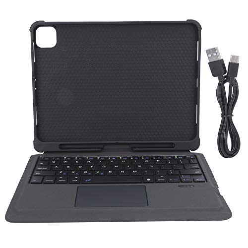 Goshyda Protective Cover, Tablet PC Detachable Keyboard Case Keyboard Cover with Touchpad/Built‑in Pen Slot Design for iPad Pro 11 Inch Tablet