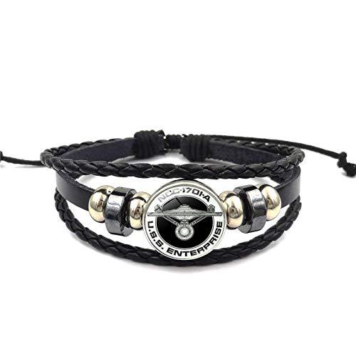 XIANNU Damen Armband,Star Trek Kette Glas Wristwear Time Gem Anweisung Armband Geschenke europäischen und amerikanischen Schmuck Geschenk