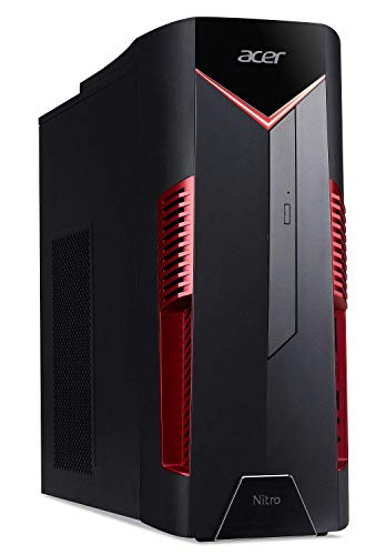 Acer Nitro 50 N50-600-NESelecti7RX580 Desktop, 8th Gen Intel Core i7-8700, AMD Radeon RX 580 Graphics, 8GB DDR4 + 16GB Optane Memory, 1TB HDD, Windows 10 Home