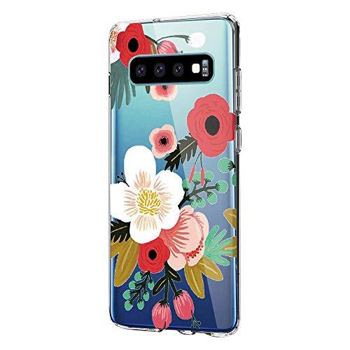 Croazhi Compatible with Samsung Galaxy S10 Plus Hüllen,Galaxy S10e/ S10 Handyhüllen Schutzhülle Durchsichtig Silikon Cover Transparent Bumper Case Tasche 360 Marmor (7, Samsung Galaxy S10)