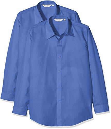 2er Pack 17 Inch Blau Gr Trutex Jungen Hemd E//C L//S Contemp Shirt 43 Cm ENTERPRISE BLU//WHT EBS