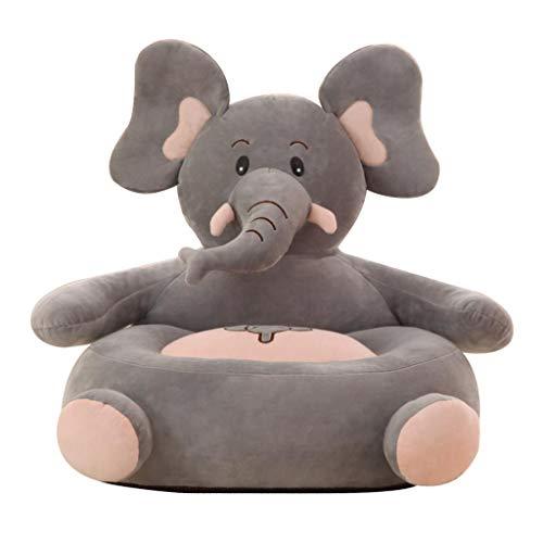 B Blesiya Silla de Animal para Niños Sillón de Felpa Forro Beanbag Decoración de Interiores - Elefante