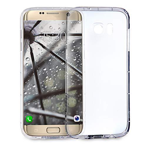 MyGadget Funda Transparente para Samsung Galaxy S7 Edge en Silicona con Protector de Bordes - Carcasa Protectora Ultra Delgada con Esquinas Reforzadas