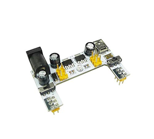 UIOTEC MB102 Micro USB Interface Breadboard Power Supply Module White 5V 3.3V 2 Channel Board MB-102 for Arduino*