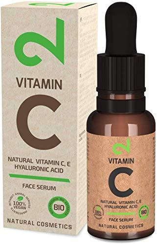 DUAL Vitamin C Face Serum|Suero Facial 100% Natural y Vegano Con Vitaminas C, E y Ácido Hialurónico | Poder Vegetal | Hidratación y Anti-edad | Certificado por Laboratorio | 20ml | Hecho en Alemania