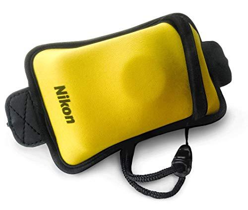 Nikon Astuccio galleggiante con cinghia per Coolpix Serie W300, W150, W100, nero/giallo