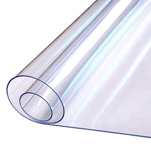 YEARLY Transparente PVC Proteger Manteles, Impermeable Manteles De Mesa Cristal Suave Junta Mesa Decoración Resistentes A Las Manchas Multi-tamaño 1.5mm Mantelería-b 40x60cm(15.7x23.6inch)