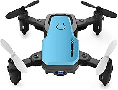 SIMREX X300C Mini Drone RC Quadcopter Foldable Altitude Hold Headless RTF 360 Degree FPV Video WiFi 720P HD Camera 6-Axis Gyro 4CH 2.4Ghz Remote Control Super Easy Fly for Training