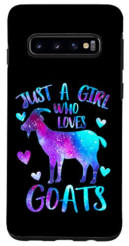 Galaxy S10 Just a Girl who loves Goats Cute Goat Farmer Galaxy Gift Case