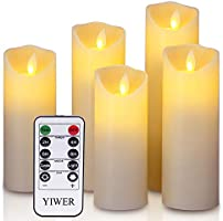 LED Kerzen,Flammenlose Kerzen realistischen tanzenden LED Flammen und 10-Tasten Fernbedienung mit 2/4/6/8-Stunden...