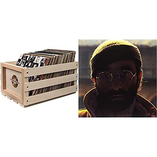 Crosley Record Storage Crate & Lucio Dalla