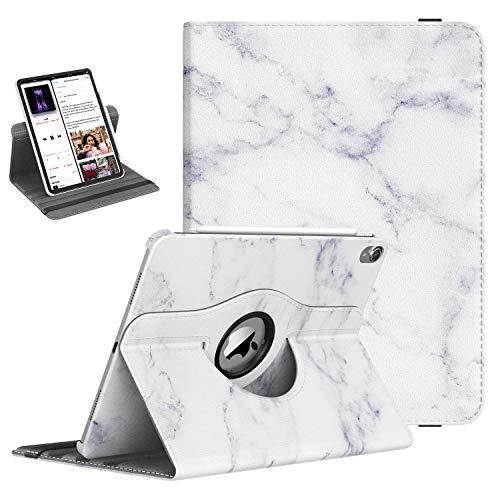 """TiMOVO iPad Pro 12.9"""" 2018(3rd Gen) Funda - Cubierta Protector Giratorio de Rotación de 360 Grados Smart Case con Stylus Soporte de La Carga para Apple Pencil 2 - Mármol Blanco"""