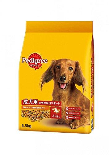 (まとめ買い)ペディグリー PDN9 成犬用 旨みチキン&緑黄色野菜入り 5.5kg・ドライ ドッグフード 【×3】