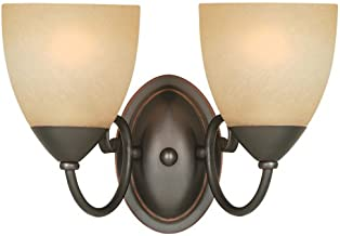 Hardware House 543827 Berkshire 12-1/4-Inch by 8-1/4-Inch Bath/Wall Lighting Fixture, Classic Bronze