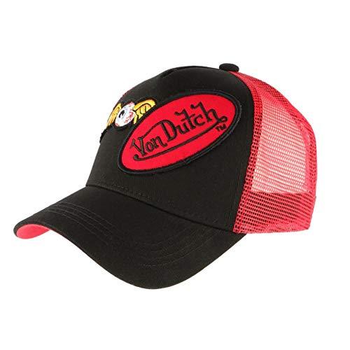 Von Dutch - Gorra de béisbol, color rojo y negro rojo Talla...