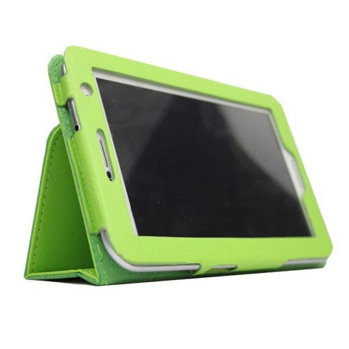 Cuasting Funda de piel para Galaxy Tab 2 P3100 y P3110 de 7 pulgadas, color verde