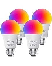 Smart WLAN ledlampen,Bomcosy E27 gloeilamp dimbaar 7W 600LM, RGBW Ledlampen intelligente multicolor 2700-6500K, compatibel met Alexa Echo, Google Home, A60 60W gelijkwaardig