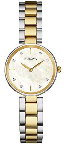Orologio da Polso, Donna,  Analogico al Quarzo cinturino di Acciaio Inox, Oro/Argento, Bulova Diamonds  98S146
