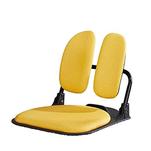 Axdwfd Liegestuhl Liegestühle, Klappstühle ohne Beine Bett Sessel Stuhl Faul Lounge Room Chair Japanischer Stil Tatami Student Dormitory Hocker 50.5x56x49cm (Farbe : Gelb)