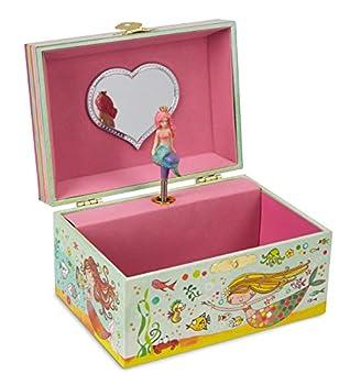 JewelKeeper Girl's Mermaid Musical Jewelry Box, Glitter Design, Over The Waves Tune