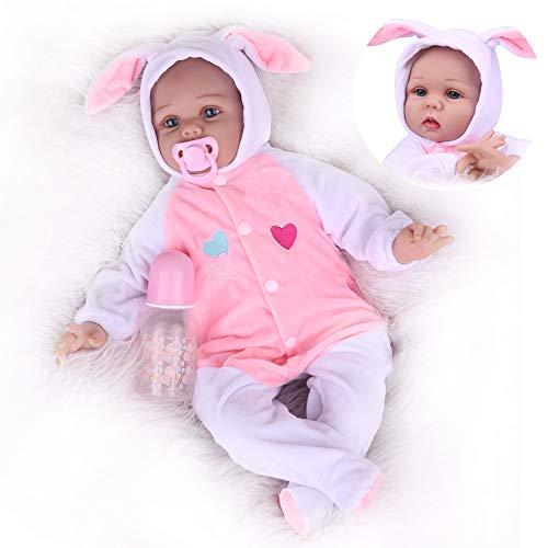 Realistic Reborn Baby Dolls, Lifelike Weighted Newborn Baby Girls, Children Pretend Play Gift Set for Age 3+