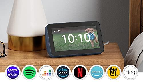 Nouvel Echo Show 5 (2e génération, modèle 2021)   Écran connecté avec Alexa et caméra 2 Mpx   Bleu