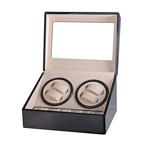 MachinYeser High Class Motor Shaker Watch Winder Holder Display 4 + 6 Reloj Mecánico Automático Winding Box Joyero Negro