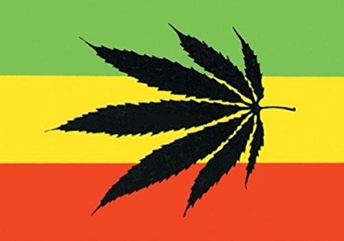 UB Fahne/Flagge Rasta Cannabis Reggae Hanf 90 cm x 150 cm Neuware!!!