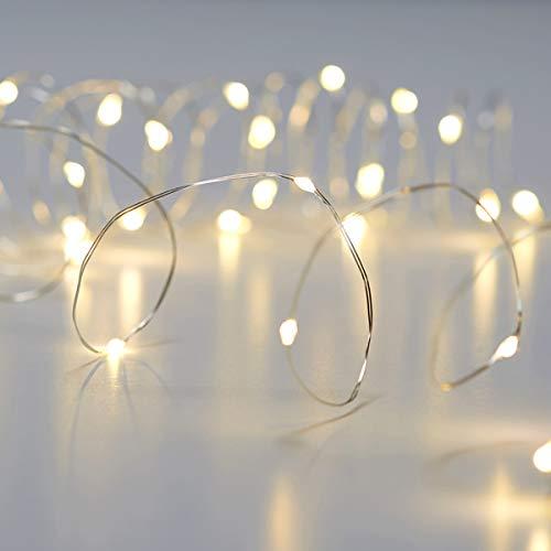 601475WU - Guirnalda de luces LED con temporizador (120 cm, luz blanca cálida)