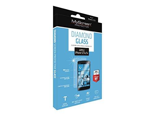 MyScreen Protector MD1483TG Diamond Glass hochtransparentes Schutzglas für Apple iPhone 5/5C/5S mit starkem 10H Kratzschutz und EasyApp Montage Kit