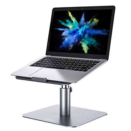 yoozon Laptop Stand Riser, Height Adjustable Aluminum Laptop Stand Holder for Desk, Ergonomic 360° Rotating, Compatible with Macbook Pro/Air, Surface Pro, Dell XPS, HP and Most Notebooks (11'-17')