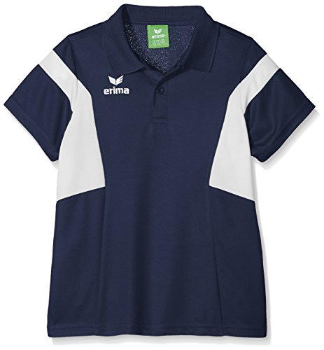 Erima Kinder Classic Team Poloshirt, New Navy/Weiß, 128
