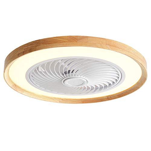 Ventilador De Techo LED 72W Con Iluminación Luz De Techo Invisible Con Ventilador Silencioso Velocidad Del Viento Ajustable Y Luz Del Ventilador Con Control Remoto Regulable Para Dormitorios De Niños