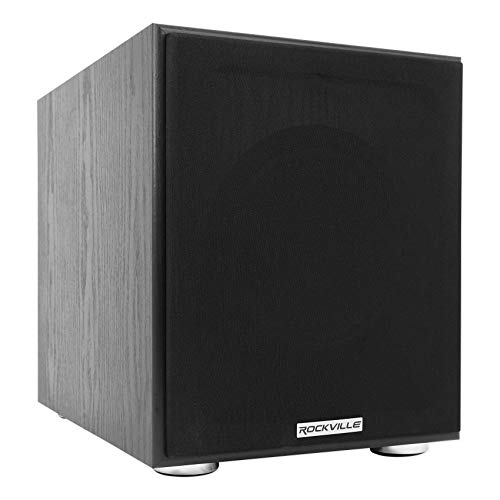 Best Bargain Rockville Rock Shaker 8 Inch Black 400w Powered Home Theater Subwoofer Sub