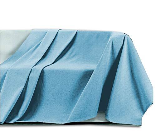 Centesimo Web Shop Telo ARREDO COPRITUTTO in 4 Misure - Prodotto in Italia Gran Foulard Multiuso Telo Tuttofare COPRIDIVANO COPRIPOLTRONA Tinta Unita - 400x290 cm Azzurro