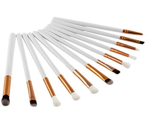 Qinlee 12pcs Pinceaux pour le Visage-Brosse Ombrée-Crayons Fards à Paupières