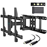 TV Wall Mount Full Motion Fits 16, 18, 24 Inches Wood Studs, Articulating