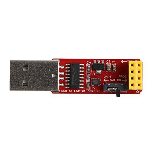 Runrain OPEN-SMART - Adaptador USB a ESP8266 ESP-01 WiFi con controlador CH340G