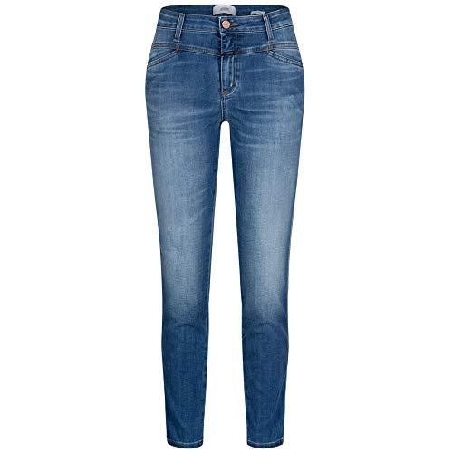 Closed Highwaist-Jeans 'Skinny Pusher' blau (MBL mid Blue) 28