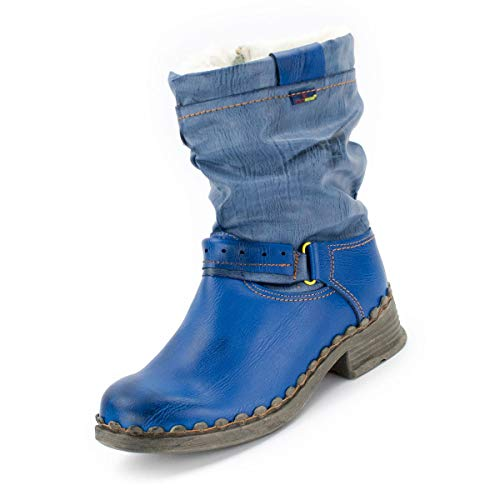 TMA Damen Winter-Boots 5005 Jeansblau 38