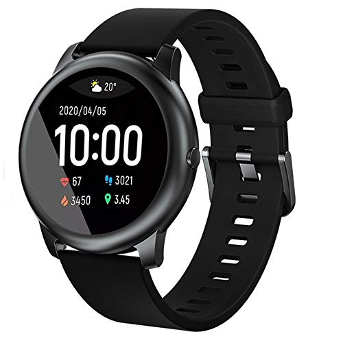 Haylou solar 3 Smartwatch,Fitness Armbanduhr mit Pulsuhr Fitness Tracker IP68 Wasserdicht Sportuhr,Smart Watch mit Schrittzähler,Schlafmonitor,Stoppuhr für Damen Herren und Kinder (Englische Version)